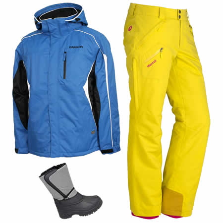Snow Jackets Pants and Walking Boots